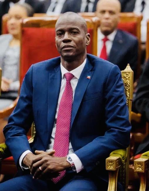 Jovenel Moïse président de la République d'Haïti du 7 février 2017 à sa mort.