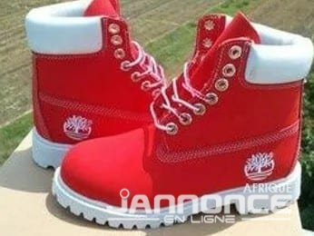 chaussure timberland rouge