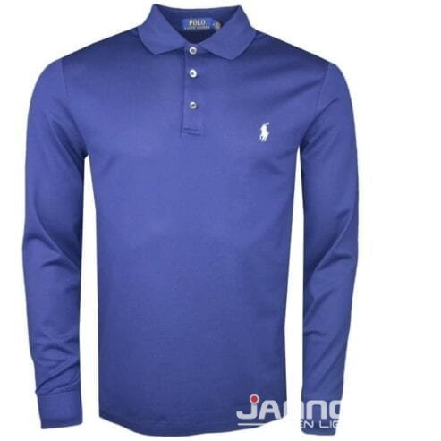 polo-manches-longues-ralph-lauren-bleu-marine-logo